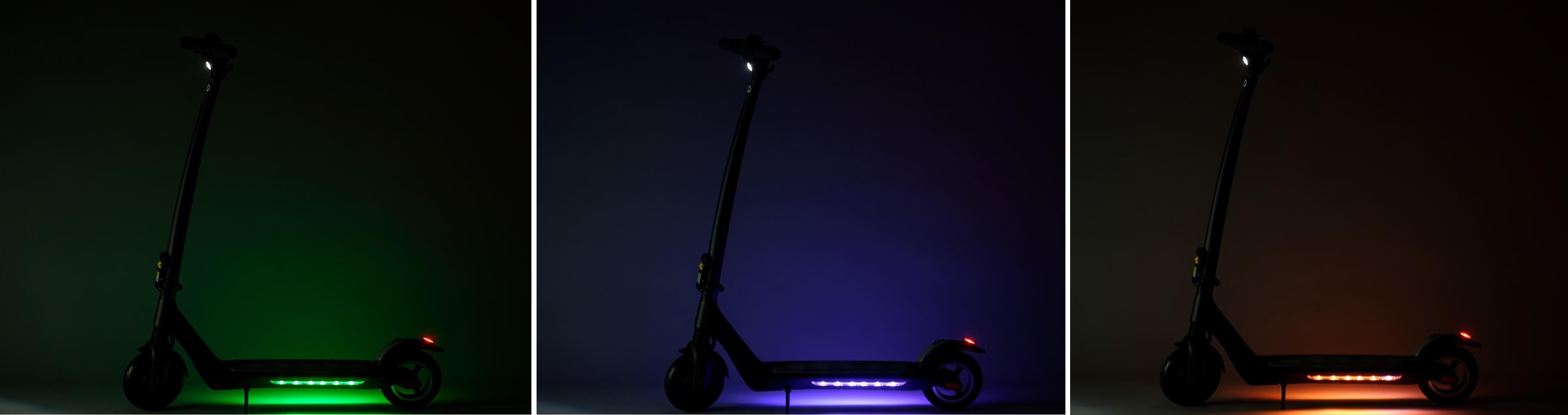 hulajnoga elektryczna światła LED