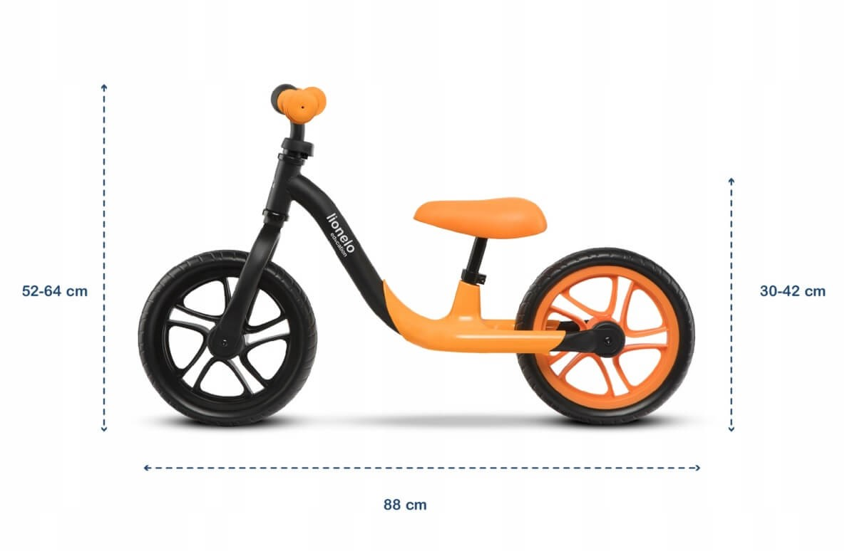 jakie są wymiary rowerka biegowego