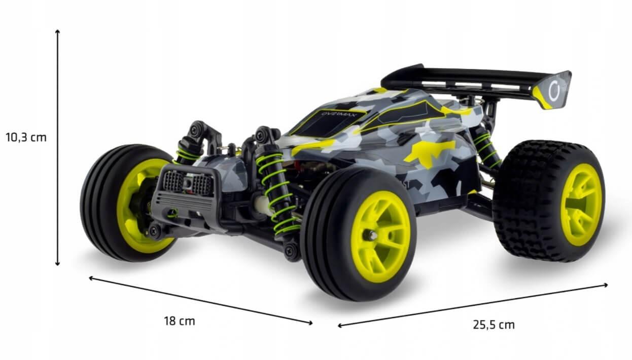 Jakie wymary ma auto Overmax X-blast