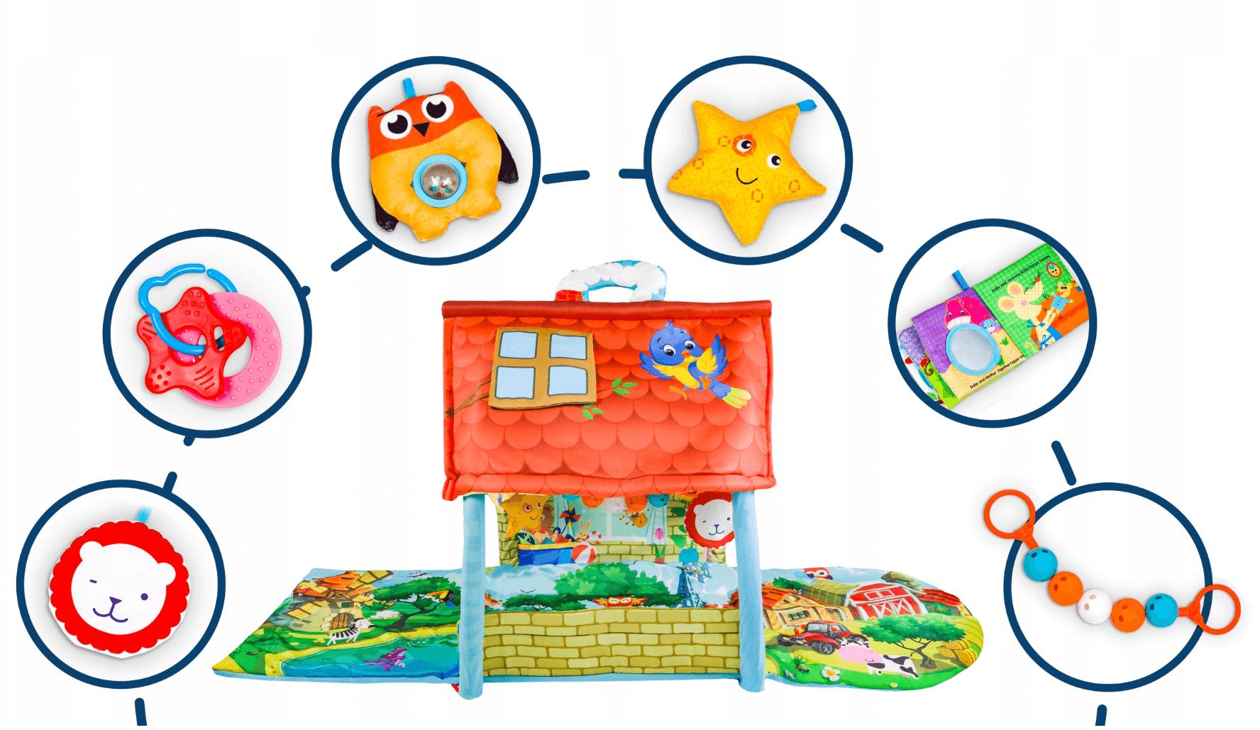 zabawki dołączone do maty AGNES